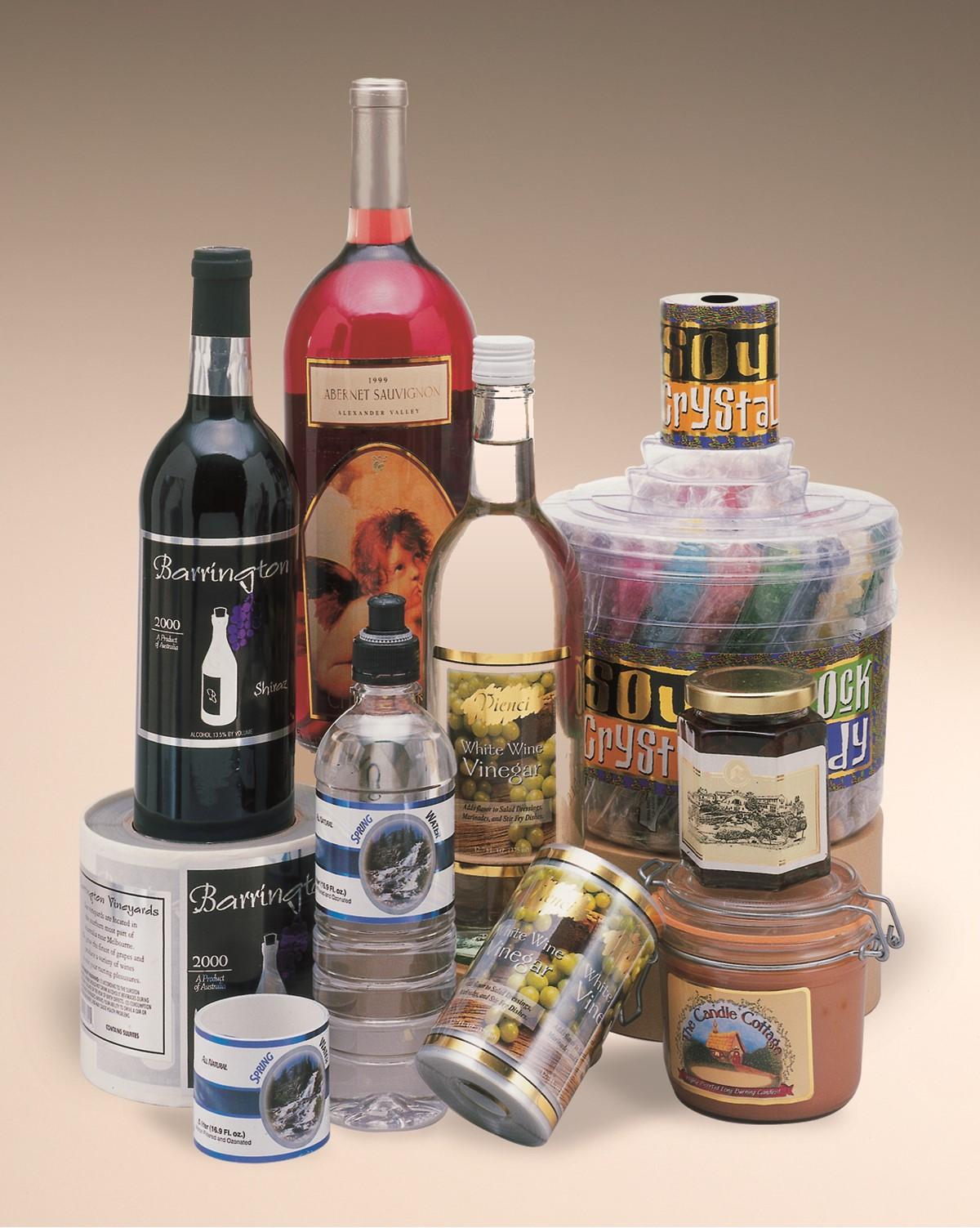 wine beer water cosmetics labels